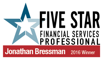 Jonathan Bressman 2016 Winner for Five Star Financial Services Professional